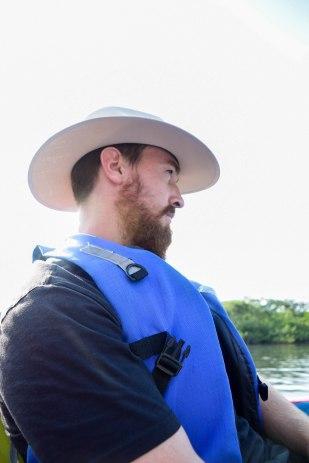 Lucas enjoying the relaxing boat ride